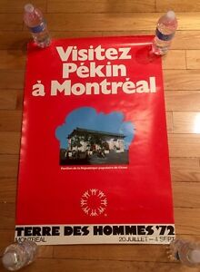 Vintage Man and his world Poster 1972 Expo 67