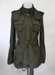 BCBG Rain Coat Green