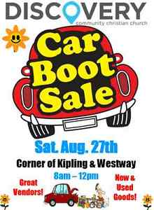 Car Boot Rummage Sale at DC3 Westway Aug. 27th