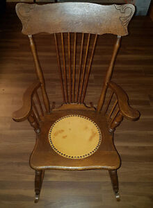 Antique Push-back Rocking Chair