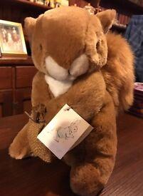 Peter Rabbit Large Squirrel Nutkins Plush Soft Toy