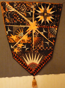 "Large Fibre Art Piece ""Compass to the Stars"""
