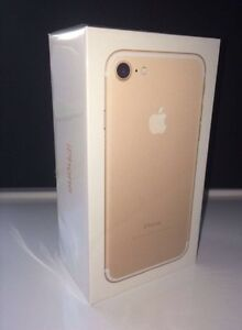 Brand New Gold IPHONE 7 128GB in sealed box