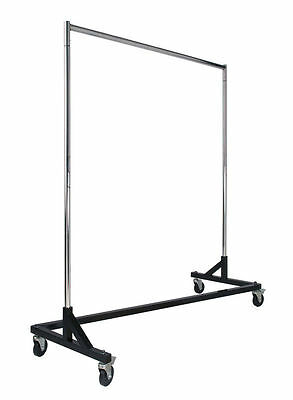 New Z Rack Style Clothes Rack Black Base Commercial Duty Retail Style Z Rack