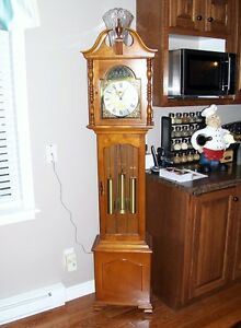 grand father westninster clock solid wood