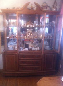VINTAGE Oak  China Cabinet Mint Mint $1100.00 shipping incl