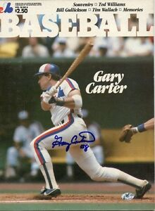 GARY CARTER AUTHENTIC AUTOGRAPH - 1984 MONTREAL EXPOS MAGAZINE