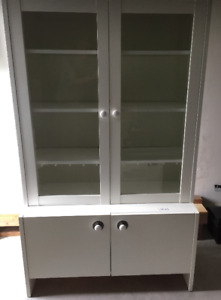 Armoire commode-bibliothèque blanche