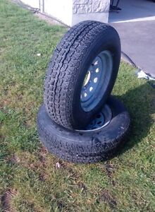 Galvanized Boat Trailer Rims and Tires