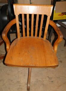 FOR SALE - ANTIQUE H.  KRUG OFFICE CHAIR