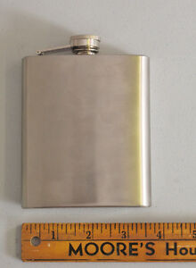 Stainless Pocket Hip Flasks – 7 ounce   Classic stainless steel