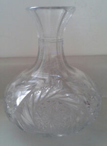 Antique Cut Glass Crystal Decanter/ Carafe