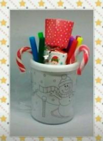 Christmas colouring cup gift set