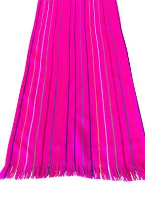 Mexican fabric Table Runner Hot Pink stripes