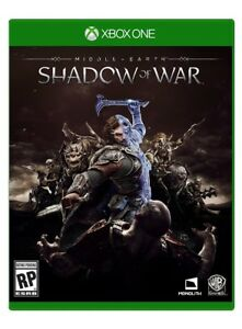 MIDDLE EARTH SHADOW OF WAR XBOX ONE X NEW LORD OF THE RINGS