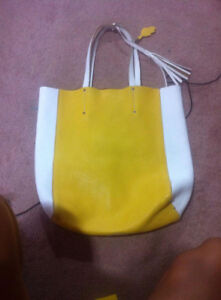 BRAND NEW- Roots Yellow Leather Purse