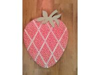 Strawberry shaped noticeboard