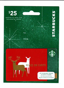 2014 STARBUCKS HANGER CARD - PEACE ON EARTH  #6113