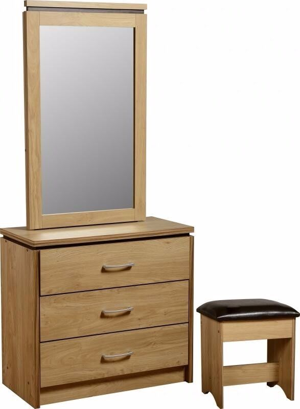 Brand New 3 Drawer Dressing Table. Mirror Slides Left U0026 Right With Storage  Behind It Amazing Ideas