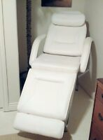 White Fully Adjustable Stationary Massage Facial Bed Table