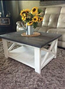 Rustic X coffee tables