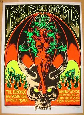 2006 High on Fire - Teton Village Silkscreen Concert Poster by Stainboy s/n