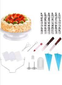 Cake turntable set