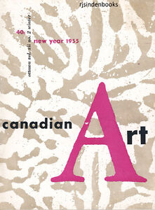 CANADIAN ART MAGAZINE NEW YEAR 1955