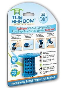 TubShroom Shower Tub Drain Protector Hair Catcher/Strainer/Snare