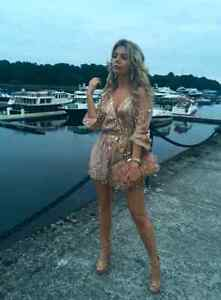 BRAND NEW Deep Plunge V-Neck Long Sleeved Beaded Sequin Playsuit Kitchener / Waterloo Kitchener Area image 9