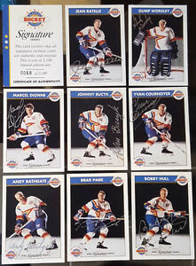 RARE Hockey card set (8) hand signed NHL Classic All Stars
