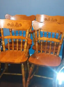 Four Wood Chairs
