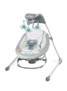 Ingenuity InLighten 2-In-1 Cradling Swing and Rocker
