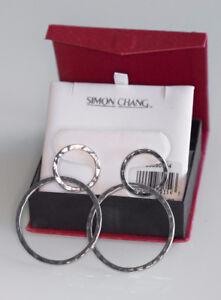 Boucles d'oreilles Simon Chang NEUVES