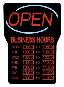 OPEN SIGN / Royal Sovereign LED Business Hours (RSB-1342E) / NEW