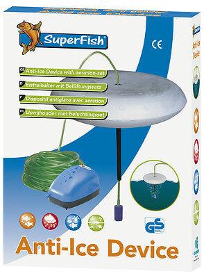 Superfish Eisfreihalter mit Belüfter Set Belüftungsset Teich Anti-Ice Device