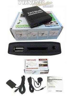 Bluetooth USB SD MP3 Aux CD Inversor 8-Pin para Renault Radio Cabasse...
