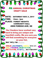 4th ANNUAL CHRISTMAS CRAFT SALE