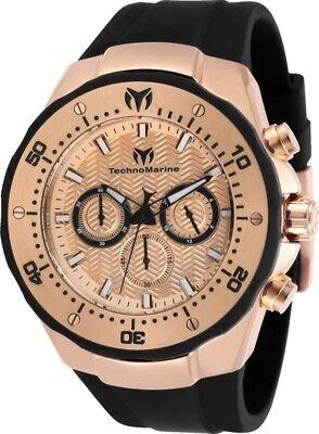 Technomarine TM-218032 Manta Men's 48mm Rose Gold-Tone Rose Gold Dial Watch