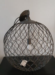 Iron wire shire pendant light