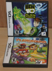 Nintendo DS Games - Playground and Ben 10: Alien Force