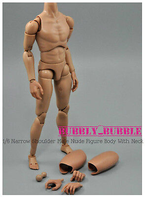 1 6 Narrow Shoulder Male Nude Figure With Neck Ttm18 19  Ship From Usa