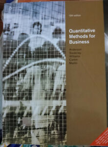 Quantitative Methods for Business | 12th Edition | Anderson