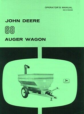 John Deere 68 Auger Wagon Operators Manual Jd