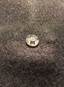 Tie pin. 20 point diamond, 1/5 carat, with gold cup base.