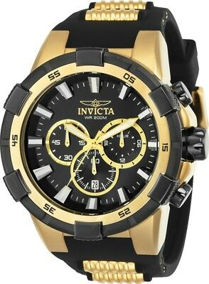 Invicta 25135 Men's Aviator Chronograph 51.5mm Black Dial Watch