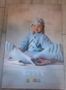 "Verkerke Large Baby Photo on Board "" Save the Seals"""
