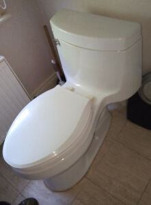 Toilet - Kohler, One-Piece, White, High Efficient: 4.8 lpf