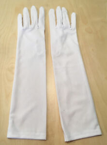 Lady's White Elbow-Length Gloves