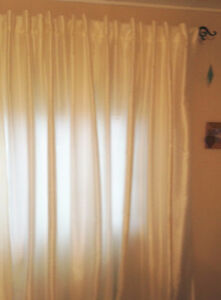 Lined Curtains & Rod